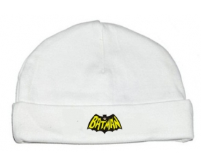 Bonnet bébé personnalisé Batman logo design-3
