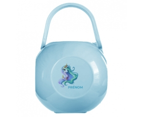 Boîte à tétine My Little Pony Princesse Célestia design-2 avec prénom