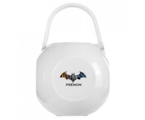 Boîte à tétine Batman logo design-1 avec prénom