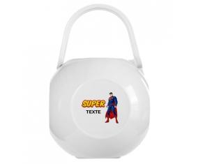 Boîte à tétine Superman avec texte