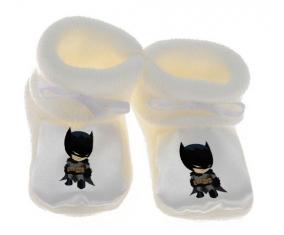 Chausson bébé Batman kids logo de couleur Blanc