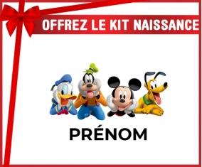 kit naissance bébé personnalisé Disney Mickey donald pluto et bingo design 2 avec prénom