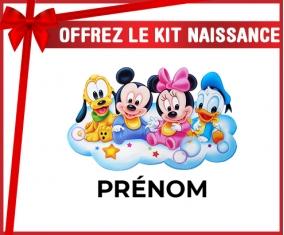 kit naissance bébé personnalisé Disney Mickey donald pluto et bingo design 3 avec prénom