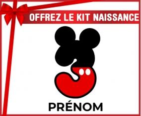 kit naissance bébé personnalisé Disney Mickey Numéro 3 avec prénom