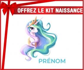 kit naissance bébé personnalisé My Little Pony Princesse Célestia design-2 avec prénom
