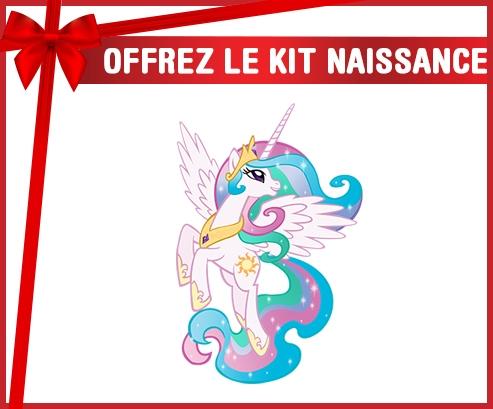 kit naissance bébé personnalisé My Little Pony Princesse Célestia design-3 avec prénom