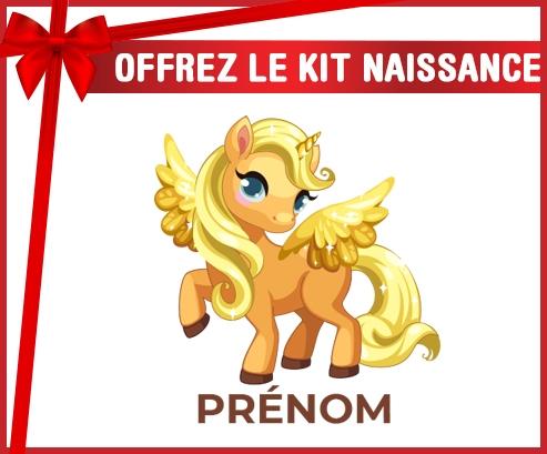 kit naissance bébé personnalisé My Little Pony Applejack avec prénom