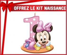 kit naissance bébé personnalisé Disney Minnie Numéro 1 anniversaire