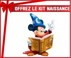 kit naissance bébé personnalisé Disney Mickey magicien livre de magie
