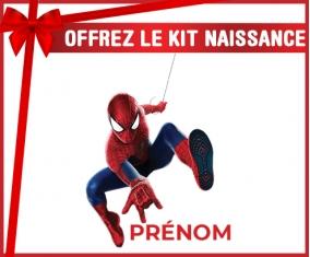 kit naissance bébé personnalisé Spiderman design-1 avec prénom