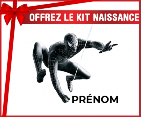 kit naissance bébé personnalisé Spiderman design-5 avec prénom