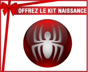 kit naissance bébé personnalisé Spiderman bouton araigné