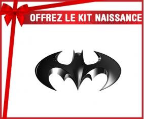 kit naissance bébé personnalisé Batman logo noir
