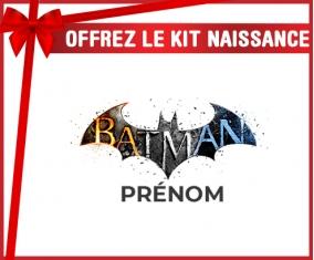 kit naissance bébé personnalisé Batman logo design-1 avec prénom