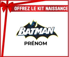 kit naissance bébé personnalisé Batman logo design-2 avec prénom