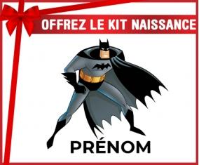 kit naissance bébé personnalisé Batman avec prénom