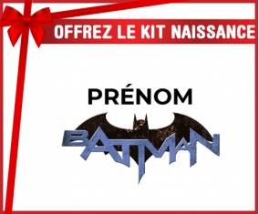kit naissance bébé personnalisé Batman logo design-3 avec prénom