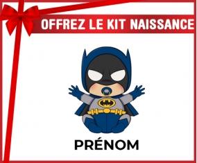 kit naissance bébé personnalisé Batman kids logo design-3 avec prénom