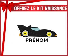 kit naissance bébé personnalisé Batmobile design-2 avec prénom