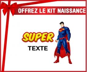 kit naissance bébé personnalisé Superman avec texte