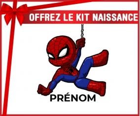 kit naissance bébé personnalisé Spiderman kids design-1 avec prénom