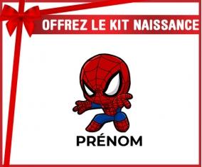 kit naissance bébé personnalisé Spiderman kids design-2 avec prénom