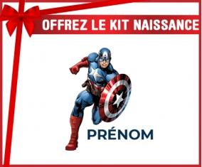 kit naissance bébé personnalisé Captain America design-1 avec prénom