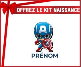 kit naissance bébé personnalisé Captain America kids design-1 avec prénom