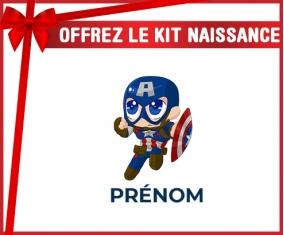 kit naissance bébé personnalisé Captain America kids design-2 avec prénom