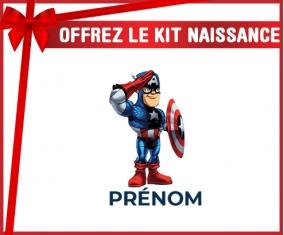 kit naissance bébé personnalisé Captain America design-2 avec prénom