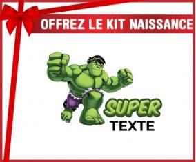 kit naissance bébé personnalisé Super Hulk avec prénom