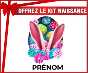 kit naissance bébé personnalisé Oeuf de Pâques design-13 avec prénom
