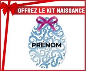 kit naissance bébé personnalisé Oeuf de Pâques design-14 avec prénom