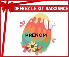 kit naissance bébé personnalisé Oeuf de Pâques design-16 avec prénom