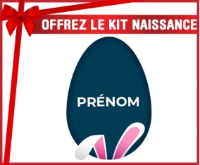 kit naissance bébé personnalisé Oeuf de Pâques design-17 avec prénom