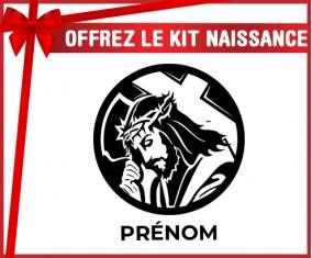 kit naissance bébé personnalisé Jesus Christ design-2 avec prénom