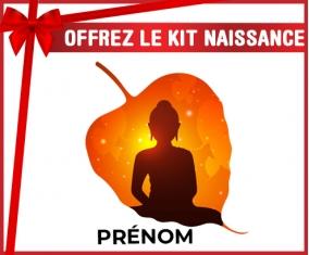 kit naissance bébé personnalisé Bouddhisme méditation zen design-1 avec prénom