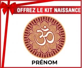 kit naissance bébé personnalisé Om aum sanskrit design-1 avec prénom