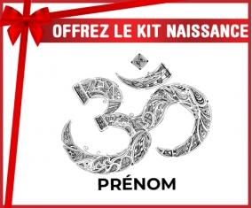kit naissance bébé personnalisé Om aum sanskrit design-2 avec prénom