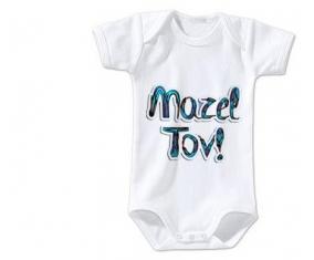Body bébé Judaisme : mazel tov hebrew design-3 taille 3/6 mois manches Courtes