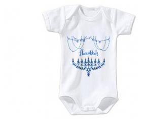 Body bébé Judaisme : Hanoukkia design-4 taille 3/6 mois manches Courtes