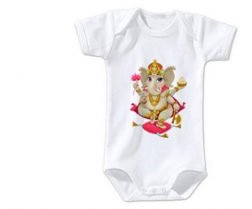Body bébé Hindouisme Ganesha taille 3/6 mois manches Courtes