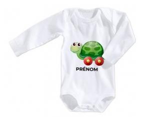Body bébé Jouet toys tortue avec roues avec prénom taille 3/6 mois manches Longues