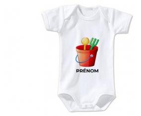 Body bébé Jouet toys jouet de plage design-1 avec prénom taille 3/6 mois manches Courtes