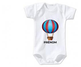 Body bébé Jouet toys montgolfière avec prénom taille 3/6 mois manches Courtes