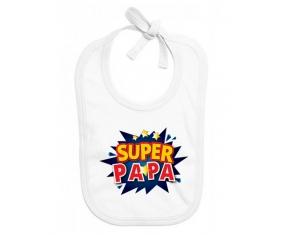 Bavoir bébé personnalisé Super PAPA design-1
