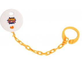 Attache-tétine Super PAPA design-1 couleur Orange