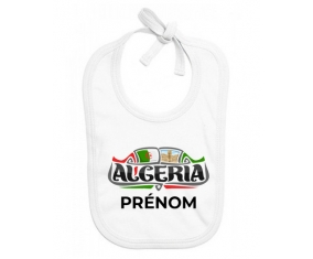 Bavoir bébé personnalisé Algeria design avec prénom