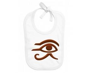 Bavoir bébé personnalisé Horus oeil égyptien symbole egypte ancienne