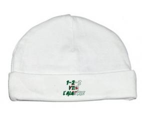 Bonnet bébé personnalisé 1 - 2 - 3 Viva L'algérie